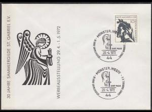 Münster Westf. 1972 Sonderumschlag SST 30 Jahre Sammlergilde St.Gabriel (87131