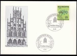 Münster Westf. 1972 Sonderkarte mit Rathaus und SST Hollandtag (87132