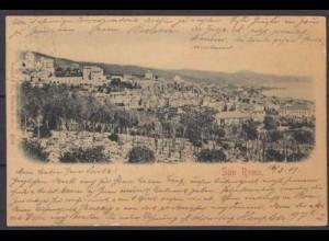 Ak San Remo Italien schöne Gesamtansicht 1899 (3672