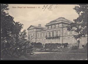 AK Schloss Stapel Front bei Havixbeck bei Coesfeld Münster 1911 (65011