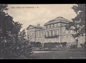 AK Schloss Stapel Front bei Havixbeck bei Coesfeld Münster 1911 (65012