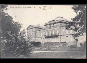 AK Schloss Stapel Front bei Havixbeck bei Coesfeld Münster 1911 (65014