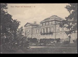 AK Schloss Stapel Front bei Havixbeck bei Coesfeld Münster 1910 (65015