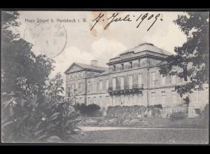 AK Schloss Stapel Front bei Havixbeck bei Coesfeld Münster 1909 (65016