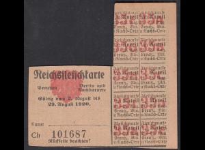 Reichsfleischkarte nach 1. WK 1920 Preussen Berlin und Nachbarorte (65039