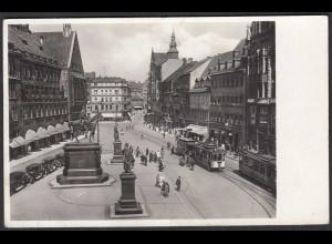 AK Chemnitz Sachsen Markt Strassenbahn 30er Jahre (65074