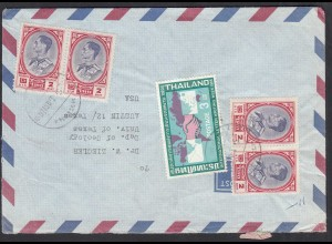 Siam Thailand Umschlag von Phra Khanong nach USA Austin Texas (65059