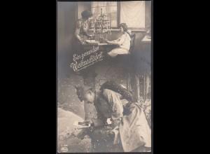 AK Ein gesundes Weihnachtsfest s/w 1.WK 1915 Feldpost Soldat im Felde (65085