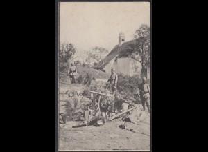 AK 1.WK Soldatengrab im Münsterthal Feldpost Landw.Inf.Reg.3.Kompanie (65088