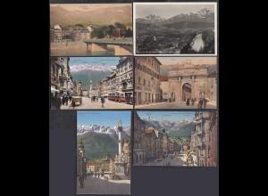 AK 6 Stück Österreich Innsbruck verschiedene Ansichten (65090