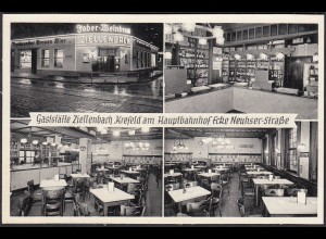 AK Krefeld Gaststätte Zillenbach am Hauptbahnhof Ecke Neuhser-Str. (65094