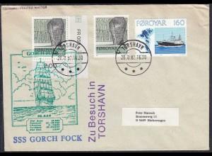 Färöer - Faeroe Islands TORSHAVN SSS Gorch Fock zu Besuch 1982 (65099