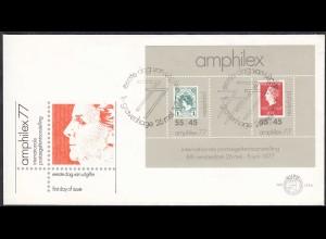 Niederlande - Netherland 1977 FDC Amphilex Block (65147