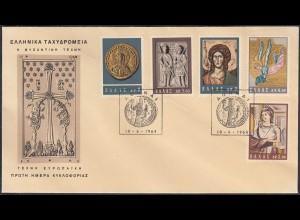 Griechenland - Greece 1964 FDC Byzantinische Kunst (65150