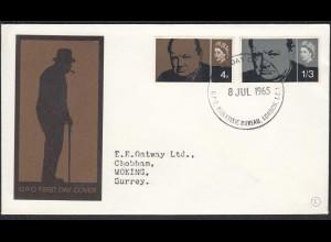 Grossbritannien UK FDC 1965 Mi. 384-85 Winston Churchill (65156