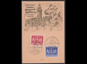 Alliierte Besatzung Sonderkarte 1948 Leipziger Rassehunde Ausstellung (65159