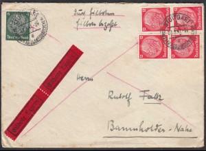 DEUTSCHES REICH 1941 Eilboten Express Brief nach Baumholder (65160
