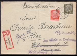 DEUTSCHES REICH 1941 R.Orts-Brief Düsseldorf mit Inhalt (65162