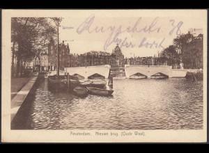 AK Niederlande Amsterdam Nieuwe Brug Oude Waal (65163