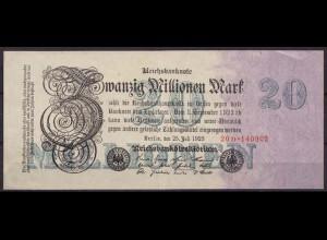 20 Millionen Mark 1923 FZ: D BZ: 20 - Ro 96b VF (3) (65166