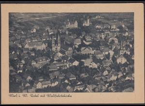AK Werl Westfalen Totalansicht mit wallfahrtskirche (65173