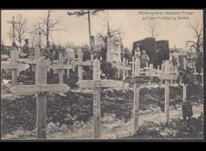 AK 1.WK Heldengräber deutscher Krieger Friedhof zu Rethel Feldpost (65186