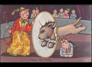 AK Kinder-Zirkus August der Starke 1938 (65189