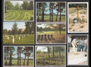 8 Stück AK Kriegsgräber Fiedhöfe Kriege (65194