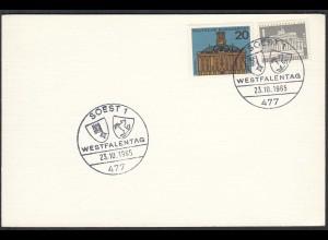 Soest Westfalen 1967 Karte mit SST WESTFALENTAG (65212