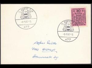 Soest Westfalen 1967 Karte mit SST TIENEN (65213