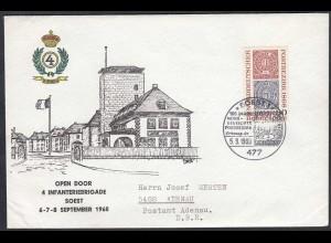Soest Westfalen 1968 Umschlag SST OPEN DOOR 4 INFANTRIEBRIGADE (65214