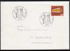 Beckum Westfalen 1970 Umschlag mit SST DEUTSCH- SCHWEIZER Jugend (65215