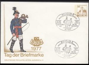 Beckum Westfalen Sonderumschlag 1977 m.SST Tag der Briefmarke (65217