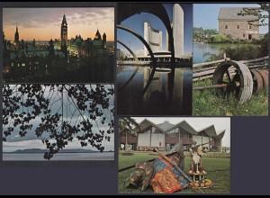 Kanada - Canada 5 Stück diff.Pre-stamped Postcards Postal Stationery (65239