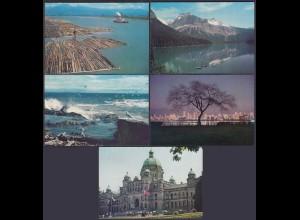 Kanada - Canada 5 Stück diff.Pre-stamped Postcards Postal Stationery (65242