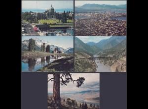 Kanada - Canada 5 Stück diff.Pre-stamped Postcards Postal Stationery (65244