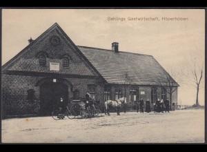 AK Behlings Gastwirtschaft Höperhöben 1919 Gemeinde Bötersen Sottrum (65245
