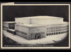 AK Modell vom neuen Kongressbau in Nürnberg Stadt der Rechsparteitage (65249