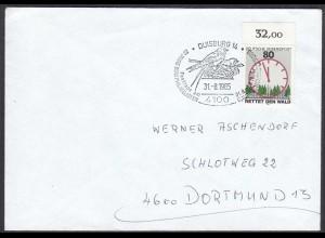 Duisburg 1985 Stempel Tiere Vögel Birds (65257