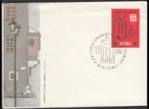 Polen 1962 FDC Michel 1355 Demokratische Partei (65258