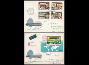 Hungary - Ungarn 1977 Cover Zeppelin Airships SET + S-SHEET (65264