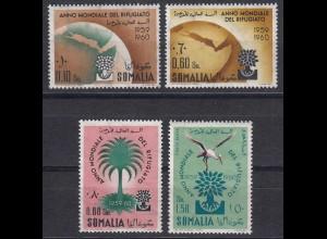 Somalia Ital.Kolonie Weltflüchtlingsjahr 1960 postfrisch MNH Vögel Mi.372-75