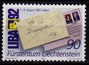 Liechtenstein LIBA´91 1991 Mi. 1026 ** (c043