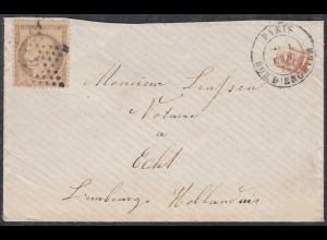 Frankreich-France 40 C. 1874 Brief PARIS nach Echt Limburg Niederlande (27844
