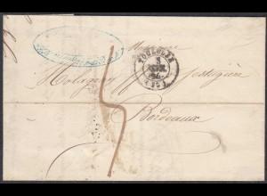 Frankreich-France 1944 Brief von Toulouse nach Bordeaux mit Inhalt (27846