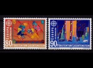 Liechtenstein EUROPA CEPT 1992 Mi.1033-34 ** (c046