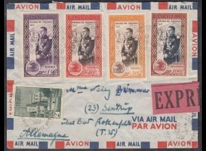Monaco - Monte-Carlo Express Brief 1951 nach Sentrup Fürst Rainier III. (27853