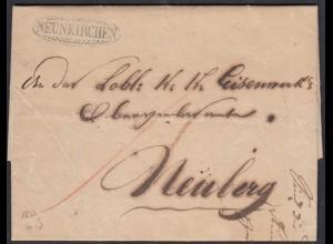 Österreich - Austria 1833 Vorphila NEUNKIRCHEN nach NEUBERG mit Inhalt (27865