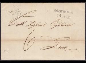 Österreich - Austria 1844 Brief mit Inhalt von BUDWEIS L2 nach LINZ L2b (27866