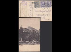 Österreich - Austria AK Jeschken Post Niederhanichen nach Jonsdorf Tschechei